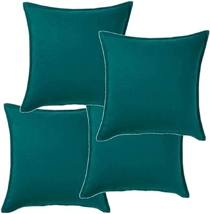 Ikea Gurli 704 261 94 Set Di 4 Federe Per Cuscini 50 X 50 Cm Colore Verde Scuro Amazon It Casa E Cucina