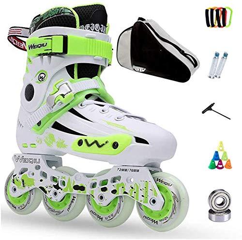 Xiaokang Inlineskates Skates Erwachsene Kinder Herren und Damen Set Rollschuhe Profi Kombi Multifunktionskates (3 Farben), C,43