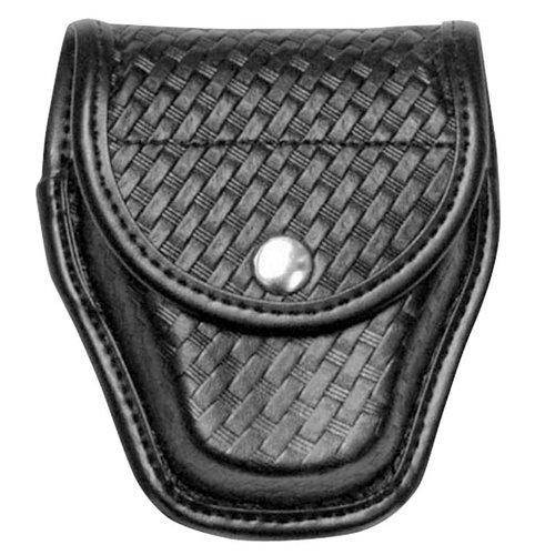 Bianchi AccuMold Elite 7900 Chrome Snap Covered Cuff Case (Basketweave Black, Size 1)