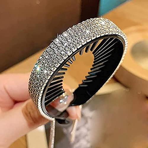 Rhinestone Tassel Headband, Elegant Rhinestone Headdress for Women, Rhinestone Hair Accessories, Lazy Plate Hair Artifact, Vintage Handmade Tassel Headband