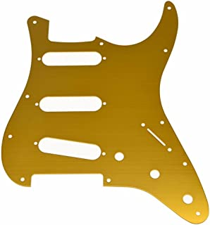 KAISH 11 Hole ST Strat SSS Metal Guitar Pickguard Aluminum Scrach Plate for USA/Mexican Fender Stratocaster Orange