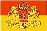 U24 Aufkleber Lingen Flagge Fahne 8 x 5 cm Autoaufkleber Sticker