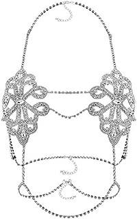 CAIYCAI Women Hollow Bra Chain Beautiful Shape Brassiere Body Jewelry Hot Choker Statement Necklace