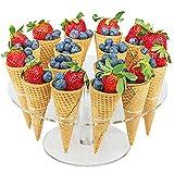 Soporte para cupcakes y cupcakes, 16 agujeros, para cupcakes, diseño de cono de...
