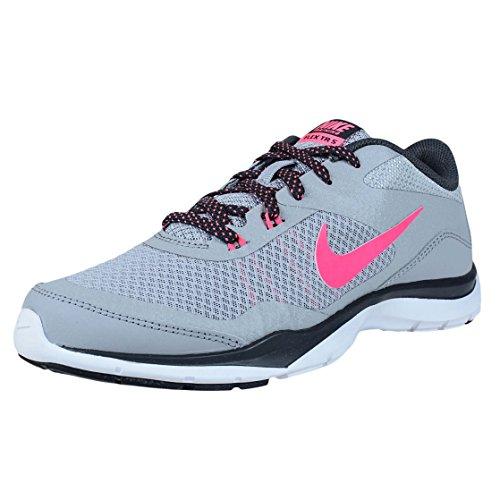 Nike Wmns Flex Trainer 5, Zapatillas de Gimnasia Mujer, Gris (Wolf Grey/Hyper Pink-Anthrct), 36