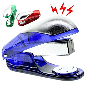 Cooplay Electric Shocking Fake Book Stitcher Sewer Stapler Prank Toy Joke Funny Gadget Shock Tricky Gag Veigar Fools Day for Halloween Party