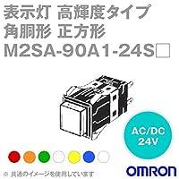 オムロン(OMRON) M2SA-90A1-24SA 形M2S 表示灯 超高輝度タイプ (角胴形) (正方形) (青) NN