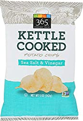 365 Everyday Value, Kettle Cooked Potato Chips, Sea Salt & Vinegar, 5 oz