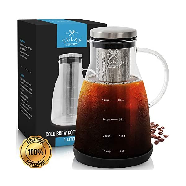 Airtight Cold Brew Coffee Maker By Zulay