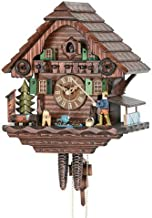 German Cuckoo Clock 1-day-movement Chalet-Style 13.00 inch - Authentic black forest cuckoo clock by Hekas