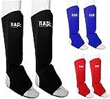 Rad MMA Shin empeine pad de espuma apoyo Boxeo pierna pie guardias Protective Gear Kickboxing azul, Azul