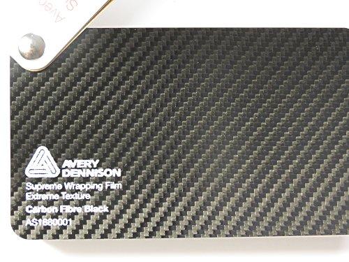 (44,01€/m2) Avery Supreme Wrapping Film Serie Schwarz 3D Carbon große Struktur gegossene Autofolie 100 x 152 cm Zuschnitt