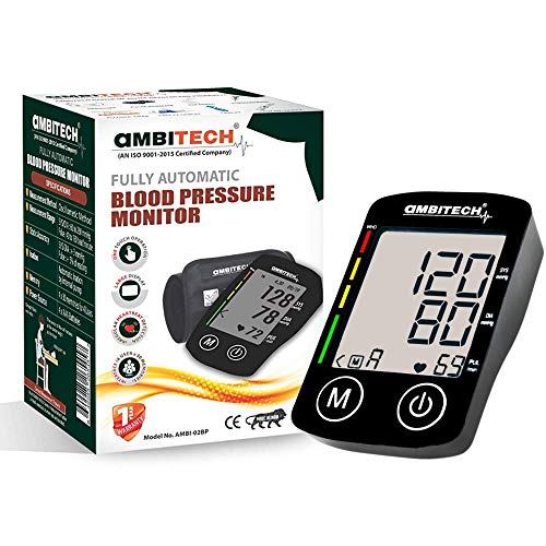 AmbiTech Digital Automatic Blood Pressure Monitor (Black) (Made in India)