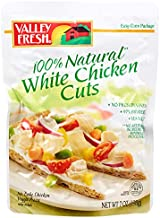 Valley Fresh 100% Natural White Chicken Cuts Pouch, 7 Ounce (Pack of 12)