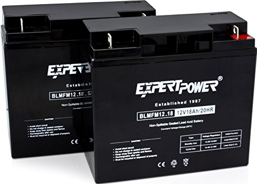 ExpertPower 12 Volt 18 Ah Rechargeable Battery With Nuts & Bolts Included || EXP12180