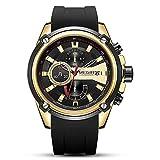 orologio da uomo al quarzo impermeabile 3atm con cinturino in silicone cronografo sportivo da polso per uom