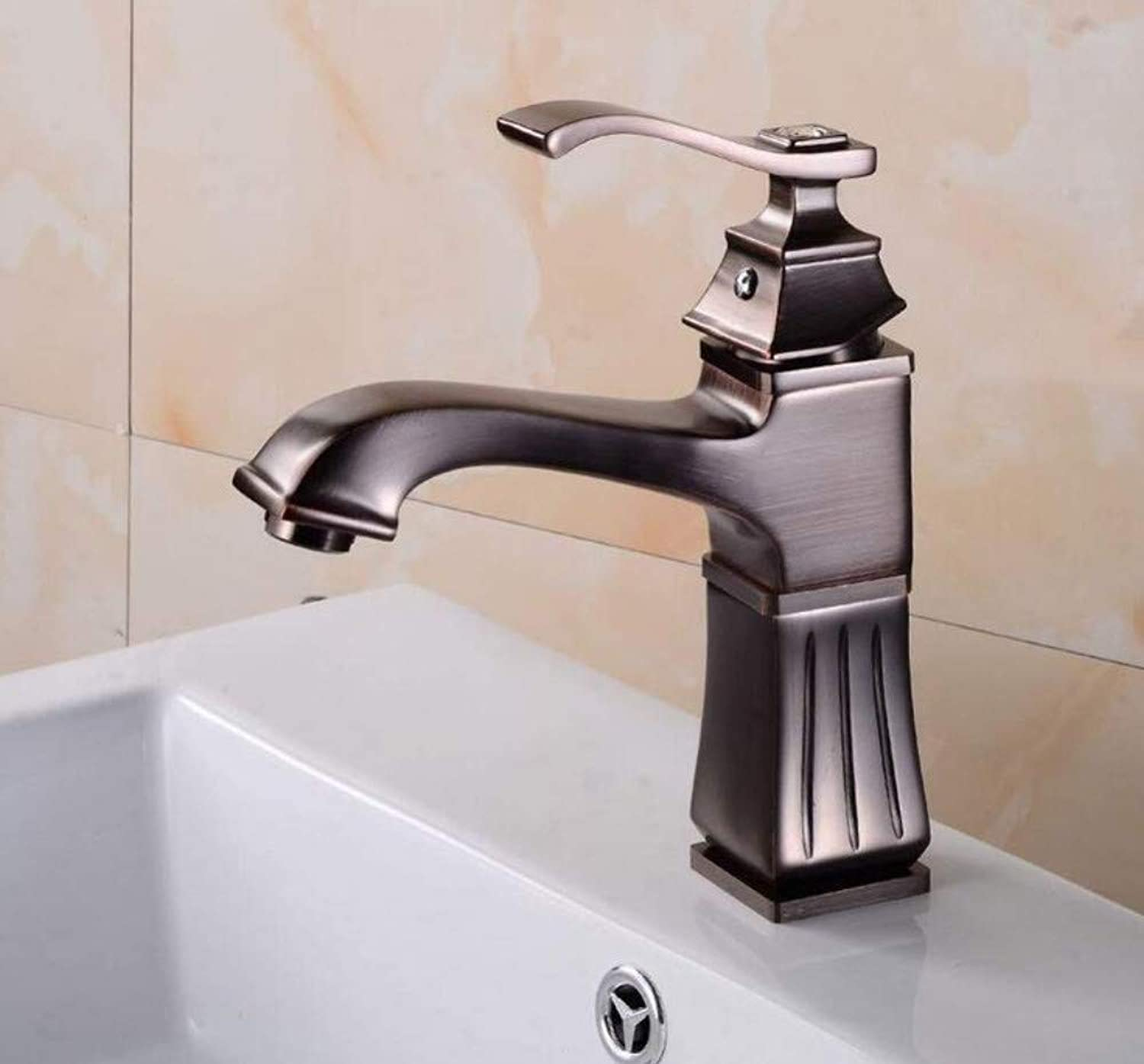 Waterfall Bathroom Sink Mixer Faucet Basin Faucet Square Hot and Cold Basin Faucet Bathroom Faucet Single-Hole Faucet