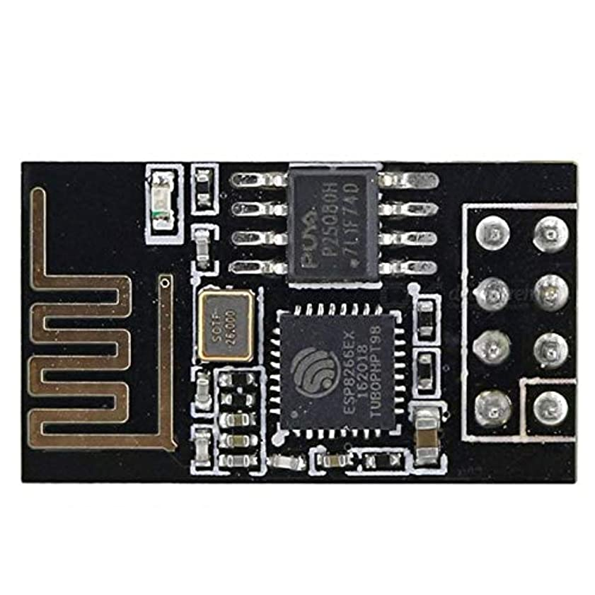 Esp8266 Esp-01 Serial to Wifi Wireless Transceiver Module Industrial Grade Wireless Module Lwip Ap + Sta-ブラック
