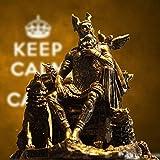 JSMY Odin Germánico Dios Wodan Escultura Figura Arte Escultura Estatuilla Estatua de Odin Mito Dios Guerrero Personaje Figura de Resina Artículos de decoración Europeos Obras de Arte para la Sala