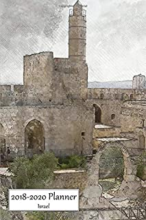 2018-2020 Planner Israel: Medium Size 3 Year Monthly 2018-20 Organizer Includes Yearly and Address Pages With Tower of David, Jerusalem Cover