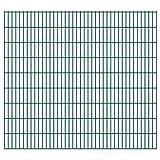 VIENDADPOW Zaunfelder 2D Gartenzaun-Elemente 2,008x1,83 m Gesamtlänge 26 m Grün