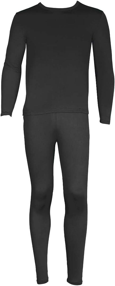 SLM ThermaTek Men's Microfiber Fleece Thermal Underwear Two Piece Long Johns Set