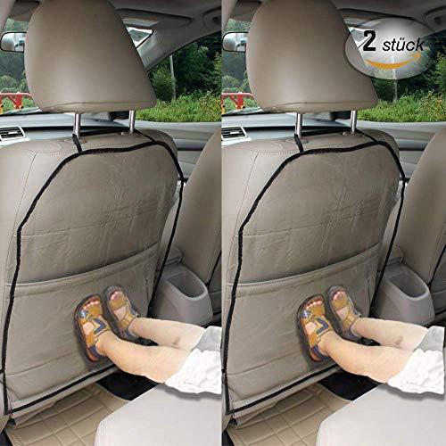 Lot de 2 housses de siège de voiture pour enfants - Protection de dossier - Protection de dossier - Transparent - Étanche - Pour enfants