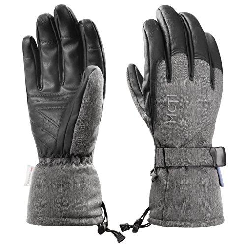 MCTi Skihandschuhe Herren Winter Ski Snowboard Handschuhe Winterhandschuhe Wasserdicht Warm Thinsulate Thermo