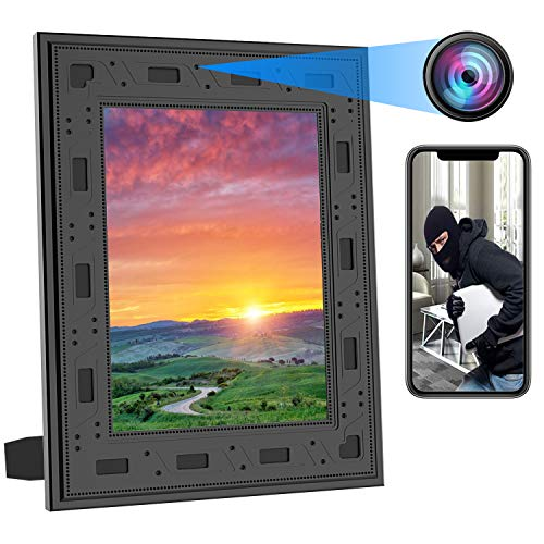 Hidden Camera Picture Frame - 1080P WiFi HD Spy Cameras Night Vision Video Recorder PIR Motion Detect Mini Camera 365 Days Battery Standby Real-Time View Nanny Cam