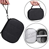 Esimen Hard Carrying Case Compatible for Anker Soundcore Life Q20 Sony WH-1000XM4 Bose QuietComfort 35,Sennheiser PXC 550,Protective Travel Bag with Space for Cable, Charger Accessories (Gray)