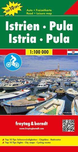 Istrien - Pula, Autokarte 1:100.000, Top 10 Tips: Toeristische wegenkaart 1:100 000 (freytag & berndt Auto + Freizeitkarten)