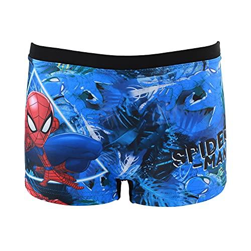 Characters Cartoons Spiderman Marvel Avengers - Bambino - Costume da Bagno Pantaloncino Boxer Slip Parigamba Mare Piscina - Primavera Estate - Licenza Ufficiale [1890 Nero - 6 Anni]