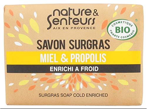 Nature & Senteurs Savon Surgras Miel et Propolis Enrichi à Froid 100 g