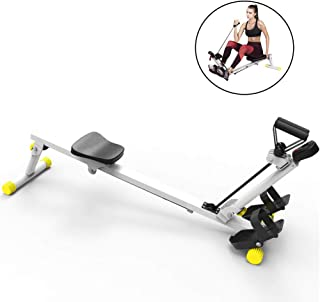 Rowing Machine,Household Silent Folding Rowing Machine Three-Speed Resistance Adjustment,Home Rowing Machine for Use Fitne...