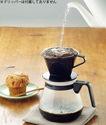 iwaki 耐熱ガラス ドリップポット レンジのポット ブラック 1L コーヒー1000 KT7966-BK2