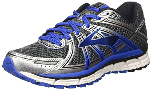 Brooks Men's Adrenaline Gts 17 Running Shoes, Grey (Anthracite/electricbrooksblue/Silver), 6.5 UK