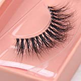 Arimika Clear Band Full Volume Fluffy 3D Mink False Eyelashes- Invisible Band,Reusable light weight,Natural Glam 3D Look Strip Lashes S006