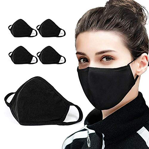 5 pks Cotton Face Mask Covering Fashion Face masks 2-Layer Unisex Reusable Fashion Washable Mask I Washable Face Mask (Pack 5) - UK Seller
