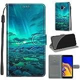 SATURCASE Samsung Galaxy J6 Plus 2018 Coque, Beau PU Cuir Magnétique Flip Portefeuille Support...