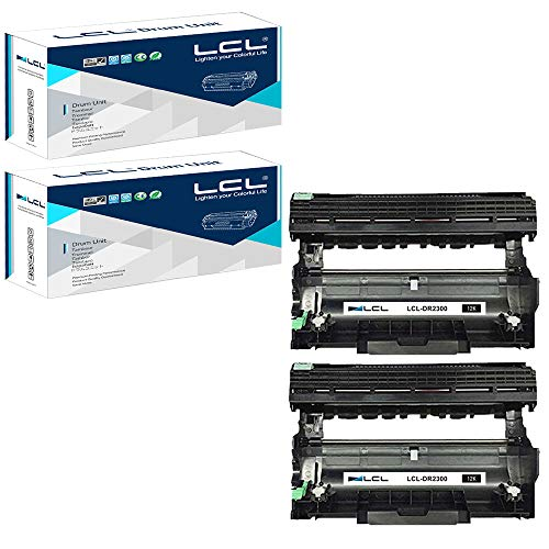 LCL Kompatibel Trommel DR-2300 DR2300 (2 Schwarz) Ersatz für Brother HL-L2340DW HL-L2320D DCP-L2540DW MFC-L2720DW HL-L2360DW HL-L2380DW HL-L2300D MFC-L2740DW DCP-L2520DW MFC-L2700DW