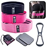 I Am Extrema Booty Bands Kit Bundle with Resistance Elastic Belt, and Support Pads