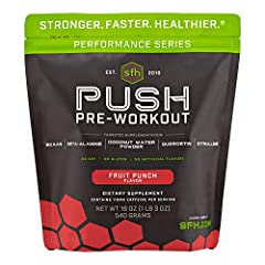 CLEANEST PRE WORKOUT ON THE MARKET: You have just found the ultimate pre-workout product for performance athletes. SFH PUSH stimulates drive and focus for demanding training; providing energy, endurance enhancers, hydration, antioxidant protection, a...
