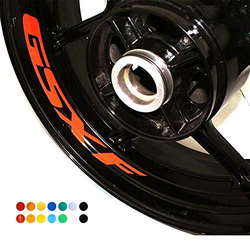 Luyangyund Etiqueta de la Rueda de la Motocicleta Etiqueta de Etiqueta Reflectante Rim Bike Motocicleta Adecuada para Suzuki GSXF (Color : Non Reflective Black)