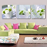 YDHP Modern Flower Decoracion Canvas Painting Large Wall Pictures For Living Room Kitchen Dinning Set-60x60cmx3 pcs sin Marco