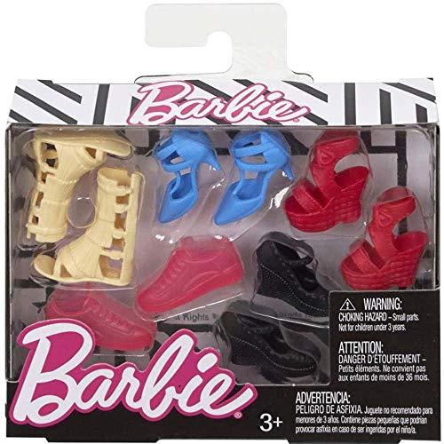 Mattel Barbie Accessories Curvy & Tall Doll Shoe Pack (Fcr93)