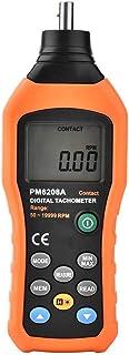 PM6208A Drehzahlmesser, Handheld Kontakttyp Digitale Drehzahlmesser Elektronische Drehzahlmesser Motor Drehzahlmesser Tester Stromquelle 4 * 1,5AAA Batterie (NICHT Enthalten)