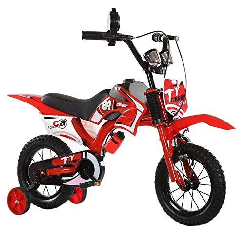 Check Out This HWZQHJY Honey & Buttons Kids Bike, for Boys & Girls, with Training Wheels or Kickstan...