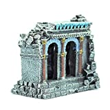 LIUXING-Home Fish Tank Decoration Fish Tank Aquarium Decoration Creative Ornament Resin Antiguo Muro Romano Ruinas Paisajismo Decoration Accessories (Color : Painted, Size : 13.5x9x12.5cm)