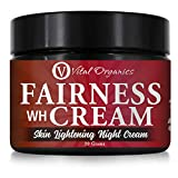 Vital Organics Fairness Cream For Skin Whitening & Lightening For Men & Women (Night Cream) for Dry...