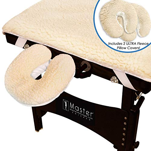 Master Massage Ultra Fleece Massageliegenauflage Set